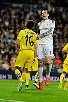 Real Madrid´s Gareth Bale during 2014-15 La Liga match between Real Madrid and Villarreal CF at Santiago Bernabeu stadium in Madrid, Spain. March 01, 2015. (ALTERPHOTOS/Luis Fernandez)