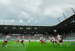 Players of England at warming up prior to the EURO 2016 Qualifier Group E match between Slovenia and England at SRC Stozice on June 14, 2015 in Ljubljana, Slovenia. Photo by Vid Ponikvar / Sportida