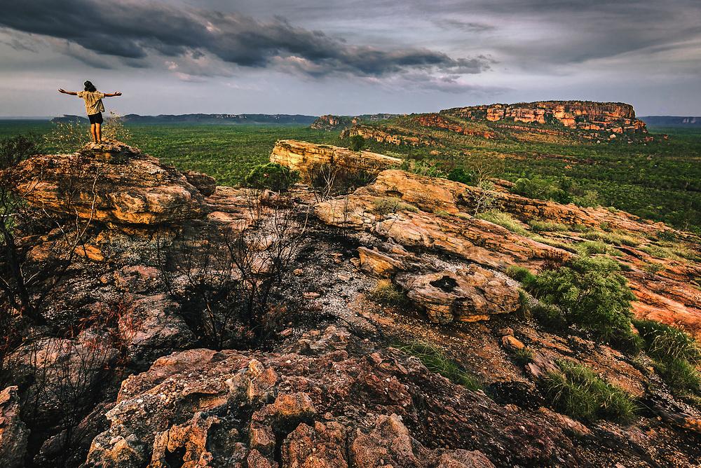 View to Nourlangie (Burrunggui) Mountain from Nawurlandja. Kakadu National Park, Northern Territory