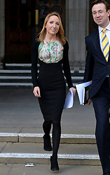 Widow Beth Warren and James Lawford Davies (solicitor) leave The High Court, London, UK, after winning her fight with the High Court to preserve her late husband's sperm.<br /> Thursday, 6th March 2014. Picture by Ben Stevens / i-Images
