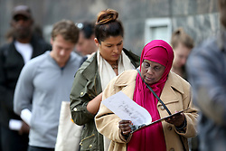 November 7, 2016 - Minneapolis, MN, USA - United States - Voters lined up outside the Community Services Building at 217 South Third Street during the last day to vote early, Monday, November 7, 2016 in Minneapolis, MN.   Wait times were expected at 45 minutes.   ] (ELIZABETH FLORES/STAR TRIBUNE) ELIZABETH FLORES ¬• eflores@startribune.com (Credit Image: © Elizabeth Flores/Minneapolis Star Tribune via ZUMA Wire)