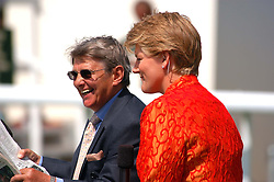 WILLIE CARSON and CLARE BALDING at the 4th day of the annual Glorious Goodwood horseracing festival held at Goodwood Racecourse, West Sussex on 30th July 2004.