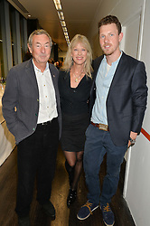 Left to right, NICK & NETTE MASON and their son CARY MASON at the YOO 15 Anniversary Party hosted by John Hitchcox and Philippe Starck at Bankside, SE1 on 17th September 2014