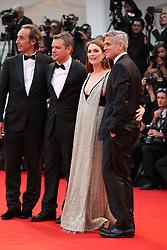 Suburbicon Premier at the Venice film festival. 02 Sep 2017 Pictured: Matt Damon, Julianne Moore, George Clooney. Photo credit: GOL/Capital Pictures / MEGA TheMegaAgency.com +1 888 505 6342