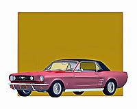When you think about the Mustang, it's easy to imagine a vehicle that is in complete control of the road. You can envision a car with the ability to take you anywhere your heart desires. This classic car is brilliantly recreated as a digital painting by the renowned artist Jan Keteleer. .<br /> <br /> BUY THIS PRINT AT<br /> <br /> FINE ART AMERICA<br /> ENGLISH<br /> https://janke.pixels.com/featured/ford-mustang-1964-retracted-roof-jan-keteleer.html<br /> <br /> <br /> WADM / OH MY PRINTS<br /> DUTCH / FRENCH / GERMAN<br /> https://www.werkaandemuur.nl/nl/shopwerk/Klassieke-auto---Oldtimer-Ford-Mustang-1964-ingetrokken-dak/435461/134