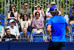 Naomi Broady watches her brother Liam Broady - Mandatory by-line: Matt McNulty/JMP - 31/05/2016 - TENNIS - Northern Tennis Club - Manchester, United Kingdom - AEGON Manchester Trophy