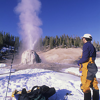 Skiing near the Bechler River, Yellowstone National Park.