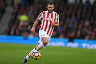 Erik Pieters of Stoke city in action. Premier league match, Stoke City v Manchester Utd at the Bet365 Stadium in Stoke on Trent, Staffs on Saturday 21st January 2017.<br /> pic by Andrew Orchard, Andrew Orchard sports photography.
