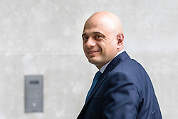 © Licensed to London News Pictures. 02/06/2019. London, UK. Home Secretary Sajid Javid arrives at BBC Broadcasting House to appear on The Andrew Marr Show Photo credit: Rob Pinney/LNP
