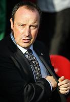Photo: Paul Thomas.<br /> Liverpool v Blackburn Rovers. The Barclays Premiership. 14/10/2006.<br /> <br /> Rafael Benitez, Liverpool manager.