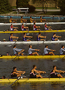 Bled, Slovenia, YUGOSLAVIA. GBR M4+, Bow, Steve TURNER, Matthew PINSENT, Gavin STEWART and Terry DILLON,  cox Vaughan THOMAS.  Coxed Fours, 1989 World Rowing Championships, Lake Bled. [Mandatory Credit. Peter Spurrier/Intersport Images]