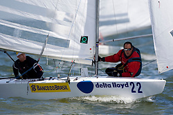Medemblik - the Netherlands, May 28th 2009. Delta Lloyd Regatta in Medemblik (27/31 May 2009). Day 2. Robert Scheidt and Bruno Prada during the first race of day two. They are in second place after two days..