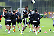 Roland Lamah © of Swansea city in action.  Swansea city FC team training in Llandore, Swansea,South Wales on Thursday 15th August 2013. The team are preparing for the opening weekend of the Barclays premier league when they face Man Utd. pic by Andrew Orchard,  Andrew Orchard sports photography,