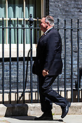 US Secretary of State arrives in Downing Street, central London on Tuesday, July 21, 2020. Sec Pompeo is scheduled to meet with Prime Minister Boris Johnson and Foreign Secretary Dominic Raab for discussions on 'global priorities, including the COVID-19 economic recovery plans, issues related to the People's Republic of China (PRC) and Hong Kong, and the US-UK Free Trade Agreement negotiations. (VXP Photo/ Vudi Xhymshiti)