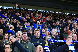 Cardiff City fans in the stands show their support during the Premier League match at St Mary's Stadium, Southampton.