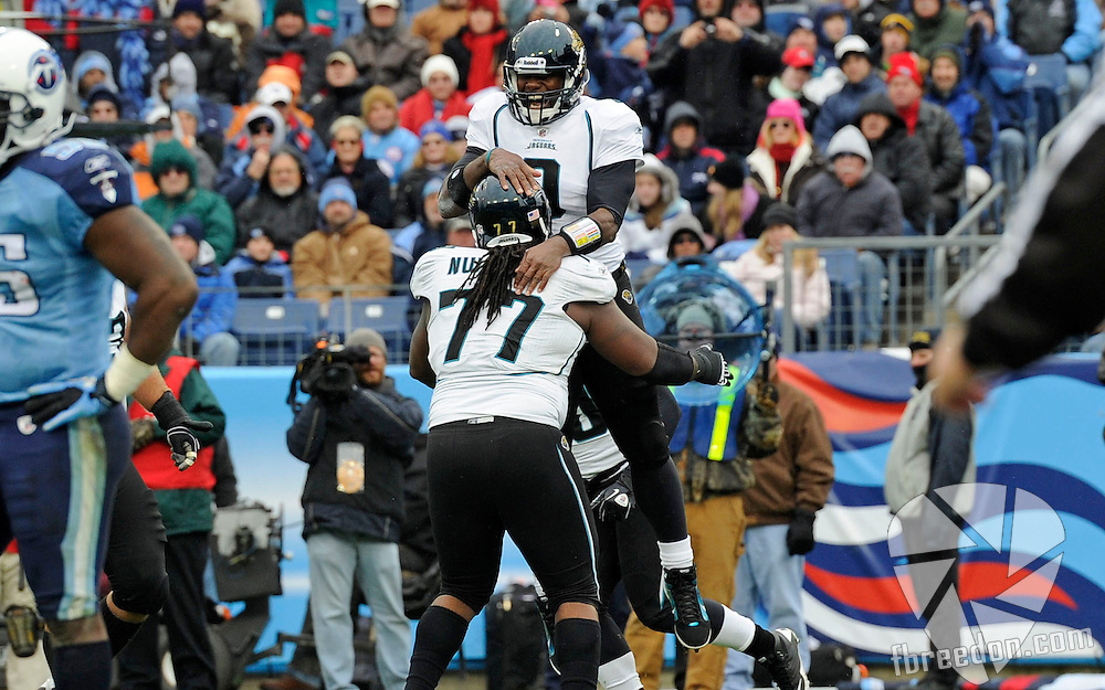 in the second quarter of an NFL football game on Sunday, Dec. 5, 2010, in Nashville, Tenn. (AP Photo/Frederick Breedon)