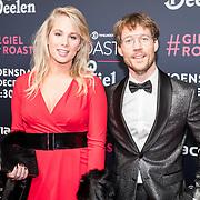 NLD/Amsterdam/20171207 - inloop The Roast of Giel Beelen, Giel Beelen en partner Nicolien Nusselder