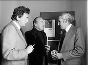 25/07/1977<br /> 07/25/1977<br /> 25 July 1977<br /> ROSC '77 Press Reception at Peter Owens Ltd. <br /> At the press reception held at Peter Owens Ltd., in Dublin to announce details of the forthcoming ROSC '77 were (l-r): Mr. Pat Heneghan, P.J. Carroll and Co. Ltd., one of the sponsors; Dr. Michael Scott, Chairman ROSC '77 and Mr. William O'Loghlen, Director Bank of Ireland Ltd., one of the sponsors.