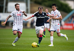 Ross County's Martin Woods, Dundee's Paul McGowan and Ross County's Tim Chow. Dundee 1 v 1 Ross County, SPFL Ladbrokes Premiership played 13/5/2017 at Dens Park.