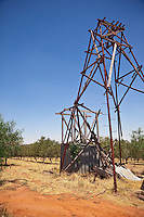 Old gold mining rig near the olive groves.