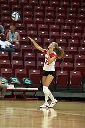 19 AUG 2006  Katie Seyller serves the ball..Game action took place at Redbird Arena on the campus of Illinois State University in Normal Illinois.