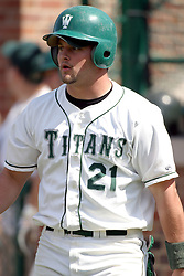 22 April 2006:  ....Titan Tanner Springer.....In CCIW, Division 3 action, the Titans of Illinois Wesleyan capped the Auggies of Augustana College by a scor of 3-2 in game one of a double card afternoon.  Games were held at Jack Horenberger field on the campus of Illinois Wesleyan University in Bloomington, Illinois