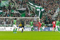 05.11.2011, Weser Stadion, Bremen, GER, 1.FBL, Werder Bremen vs 1.FC Köln, im Bild Christian Clemens (Koeln / Köln #27) setzt sich gegen Lukas Schmitz (Bremen #13) durch und erzielt das 1:0 fuer Koeln // during the match GER, 1.FBL, Werder Bremen vs 1.FC Koeln on 2011/11/05, 12. matchday, Weser Stadion, Bremen, Germany. EXPA Pictures © 2011, PhotoCredit: EXPA/ nph/  Gumz       ****** out of GER / CRO  / BEL ******