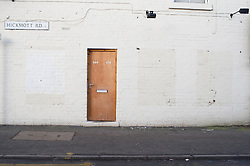 Door in a white painted wall, Sheffield