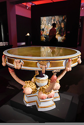 "© Licensed to London News Pictures. 10/02/2017. London, UK.  ""A Modern Table"", supposedly delivered to Catherine the Great (est. GBP15-20k) on display at the preview of the ""Erotic: Passion & Desire"" sale at Sotheby's in New Bond Street.  The sale, which will take place on 16 February, encompasses representations of love and sex from antiquity to the present day.  Photo credit : Stephen Chung/LNP"