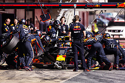 February 28, 2019 - Barcelona, Barcelona, Spain - Pierre Gasly from France with 10 Aston Martin Red Bull Racing - Honda RB15 action at pit stop practice  during the Formula 1 2019 Pre-Season Tests at Circuit de Barcelona - Catalunya in Montmelo, Spain on February 28. (Credit Image: © Xavier Bonilla/NurPhoto via ZUMA Press)