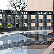 The Texas Peace Officers' Memorial in the grounds of the Texas State Capitol complex in the heart of Austin, Texas.