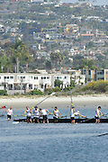 San Diego, California. USA. General Views, Crews boating from the beach. 2013 Crew Classic Regatta, Mission Bay.  10:54:24.  Saturday  06/04/2013   [Mandatory Credit. Peter Spurrier/Intersport Images]  ..