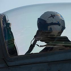 USS John C Stennis CVN-74 Aircraft Carrier.Pic Shows An F-18  Super Hornet waiting for take-off