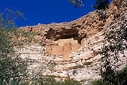 Morning light on Montezuma Castle Ruins (Sinagua Indians), Montezuma Castle National Monument, Arizona.
