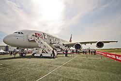 10.06.2010, Flughafen Schönefeld, Berlin, GER, ILA Internationalen Luftfahrt-Ausstellung, im Bild Airbus A380 der Emirates EXPA Pictures © 2010, PhotoCredit: EXPA/ nph/ Hammes / SPORTIDA PHOTO AGENCY