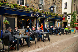 The Covid 19 lockdown in Scotland has been eased and purveyors of refreshments are happy to see customers return.
