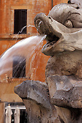 Fountain in the Piazza della Rotonda in front of the Pantheon in Rome, Italy
