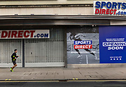 Sports Direct is one of a many closed stores on Oxford Street, who's reputation as Europe's premier shopping destination faces its biggest threat in decades. A flood of store closures and deterioration in the quality of the buildings and public space along the near two-kilometer  thoroughfare is being aggravated by lockdown restrictions that are decimating foot traffic and driving more shoppers online away from the the capitals West End during the third lockdown of the Coronavirus pandemic, on 3rd March 2021, in London, United Kingdom.