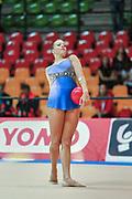Irene Pippo atleta della società Auxilium di Genova durante la seconda prova del Campionato Italiano di Ginnastica Ritmica.<br /> La gara si è svolta a Desio il 31 ottobre 2015.