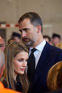 072613 Prince Felipe and Princess Letizia visit Train Crash Ground Zero