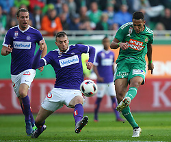 23.10.2016, Allianz Stadion, Wien, AUT, 1. FBL, SK Rapid Wien vs FK Austria Wien, 12 Runde, im Bild Petar Filipovic (FK Austria Wien) und Joelinton Cassio Apolinario de Lira (SK Rapid Wien) // during Austrian Football Bundesliga Match, 12th Round, between SK Rapid Vienna and FK Austria Wien at the Allianz Stadion, Vienna, Austria on 2016/10/23. EXPA Pictures © 2016, PhotoCredit: EXPA/ Thomas Haumer