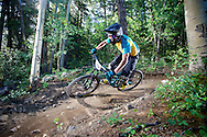 Nate Hills competes in Stage 4 of the Keystone Big Mountain Enduro in Keystone, CO. ©Brett Wilhelm