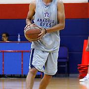 Turkish Basketball team Anadolu Efes's Sasha Vujacic during their new season training at Anadolu Efes sports hall in Istanbul Turkey on Monday 22 August 2011. Photo by TURKPIX