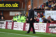 Burnley Manager Sean Dyce look on. Barclays Premier league match, Burnley v Everton at Turf Moor in Burnley, Lancs on Sunday 26th October 2014.<br /> pic by Chris Stading, Andrew Orchard sports photography.