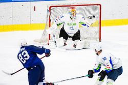 Gracnar Luka of Slovenia during match at Beat Covid 19 IIHF Tournament 2021 between national teams of Slovenia and France in Hala Tivoli on 17th of May, 2021, Ljubljana, Slovenia . Photo By Grega Valancic / Sportida