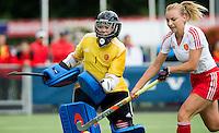 BREDA (Neth.)  Amy Tennant (l) and Hannah Martin of England during the match  New Zealand vs England U21 women . Volvo Invitational Tournament U21. COPYRIGHT KOEN SUYK