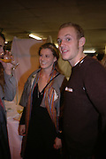 Alexia Niedzielski, Francesca Versace and Alexander Flick. Caribbbean Pirates at the Coppermill  by Paul McCarthy Whitechapel off-Site installation and diner at Shoreditch Town Hall.    22 October 2005. ONE TIME USE ONLY - DO NOT ARCHIVE © Copyright Photograph by Dafydd Jones 66 Stockwell Park Rd. London SW9 0DA Tel 020 7733 0108 www.dafjones.com