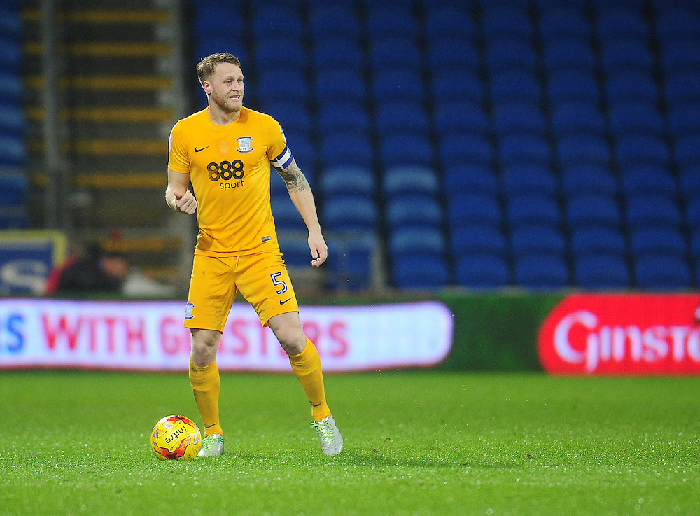 Preston North End's Tom Clarke<br /> <br /> Photographer Kevin Barnes/CameraSport<br /> <br /> The EFL Sky Bet Championship - Cardiff City v Preston North End - Tuesday 31st January 2017 - Cardiff City Stadium - Cardiff<br /> <br /> World Copyright © 2017 CameraSport. All rights reserved. 43 Linden Ave. Countesthorpe. Leicester. England. LE8 5PG - Tel: +44 (0) 116 277 4147 - admin@camerasport.com - www.camerasport.com