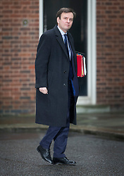 © Licensed to London News Pictures. 01/03/2016. London, UK. Greg Hands, Chief Secretary to the Treasury ,  arrives for a cabinet meeting. Photo credit: Peter Macdiarmid/LNP