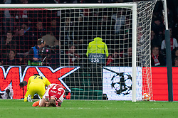 08-05-2019 NED: Semi Final Champions League AFC Ajax - Tottenham Hotspur, Amsterdam<br /> After a dramatic ending, Ajax has not been able to reach the final of the Champions League. In the final second Tottenham Hotspur scored 3-2 / Frenkie de Jong #21 of Ajax, Andre Onana #24 of Ajax